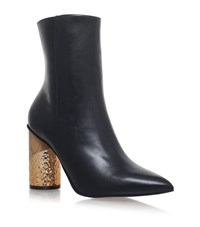 Kurt Geiger Raffle Leather Boots Female Black