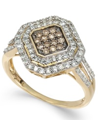 Wrapped In Love White And Brown Diamond Ring In 14K Gold 1 2 Ct. T.W.
