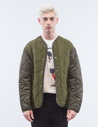 3.1 Phillip Lim Crochet Back Quilted Military Jacket