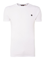 Duck And Cover Colin Short Sleeve Crew Neck T Shirt White