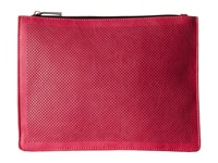 Mighty Purse Vegan Leather Three Tone Charging Clutch Charcoal Pink Black Fold Clutch Handbags Red