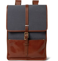 Miansai Harbour Canvas And Leather Backpack Blue