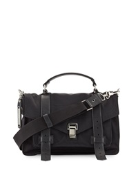 Proenza Schouler Ps1 Medium Nylon Crossbody Bag Black