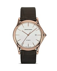 Emporio Armani Swiss Made Rose Gold Ion Plated Watch 42Mm