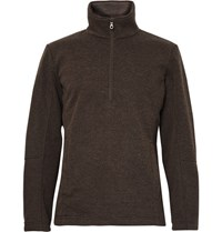 Musto Shooting Fleece Back Jersey Half Zip Sweater Brown