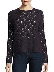 Inhabit Open Knit Cashmere Sweater Caviar