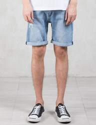 Cheap Monday High Cut Future Washed Denim Shorts