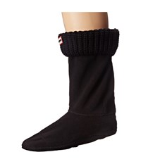 Hunter Half Cardigan Boot Sock Short Black Women's Crew Cut Socks Shoes