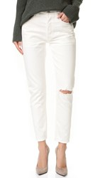 Citizens Of Humanity Liya High Rise Classic Fit Crop Jeans White