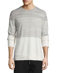 Helmut Lang Gradient Heathered Crewneck Sweater Sand Heather