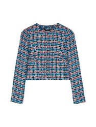 Lk Bennett L.K. Bennett Echo Tweed Jacket Blue