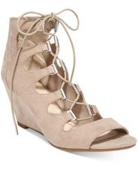 Bar Iii Kerry Lace Up Wedge Dress Sandals Only At Macy's Women's Shoes Portico
