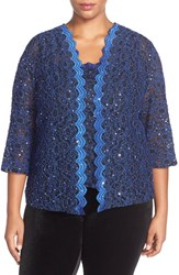 Plus Size Women's Alex Evenings Sequin Lace Twinset