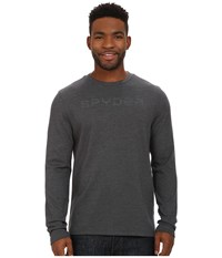 Spyder Pump Therma Stretch T Neck Top Polar Men's Long Sleeve Pullover Khaki