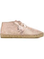 Robert Clergerie 'Eloise' Ankle Espadrilles Pink And Purple