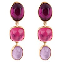 Goossens Paris Rock Crystal Earrings Pink