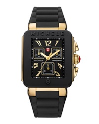 Michele Park Jelly Bean Watch Golden Black
