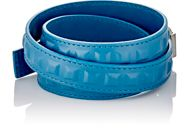Balenciaga Embossed Grid Triple Wrap Bracelet Blue