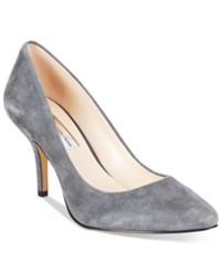 Inc International Concepts Womens Zitah Pointed Toe Pumps Women's Shoes Dark Grey