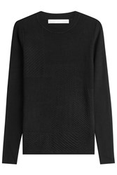 Jason Wu Textured Pullover Black