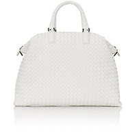 Bottega Veneta Women's Intrecciato Medium Convertible Tote White