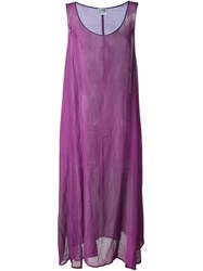 Gianfranco Ferre Vintage Sheer Tank Dress Pink And Purple
