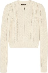 Isabel Marant Gently Open Knit Cardigan Ecru