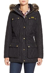 Barbour Women's International Enduro Quilted Jacket With Faux Fur Trim Hood