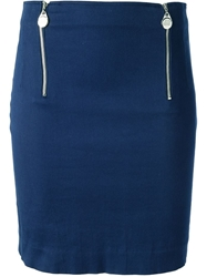 Jean Paul Gaultier Vintage Mini Pencil Skirt Blue