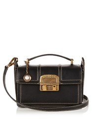 Lanvin Jiji Small Leather Cross Body Bag Black