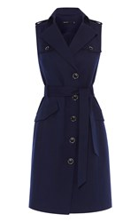 Karen Millen Military Shirt Dress Blue