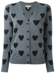 Burberry Heart Intarsia Cardigan Grey