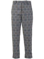 Marni Checked Trousers Black
