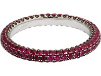 Sidney Garber Women's Ruby Thread Ring No Color