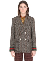 Gucci Donegal Wool Blend Jacket