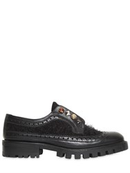 Ras 30Mm Fuzzy Leather Shoes W Studs