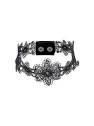 Manokhi Lace Effect Choker Black