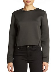 William Rast Cropped Scuba Sweatshirt Black