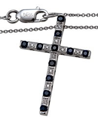 Bliss By Damiani Cabaret Ext. Sapphire And Diamond Cross Necklace