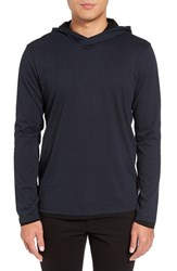 Calibrate Men's Lightweight Double Layer Hoodie Navy Night Stripe