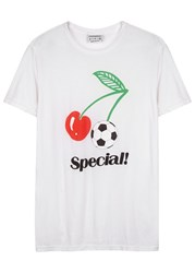 Rxmance Special White Printed Cotton T Shirt
