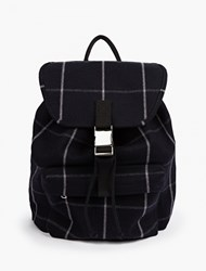 A.P.C. Blue Checked Wool Blend Backpack