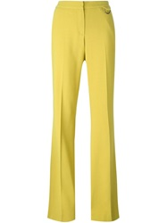 Giamba Flared Trousers Yellow And Orange