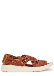 Malibu X Missoni Canyon Faux Leather Sandals Red