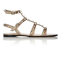 Valentino Women's Rockstud Multi Strap Sandals Gold