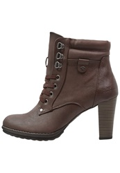 Tom Tailor High Heeled Ankle Boots Brown
