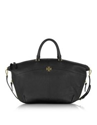 Tory Burch Ivy Black Pebble Leather Slouchy Satchel Bag