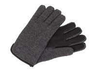 Ugg Calvert Side Vent Glove With Leather Palm Granite Heather Dress Gloves Gray