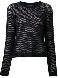 Sally Lapointe Crew Neck Pullover Black