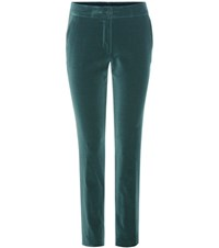 Etro Velvet Trousers Green